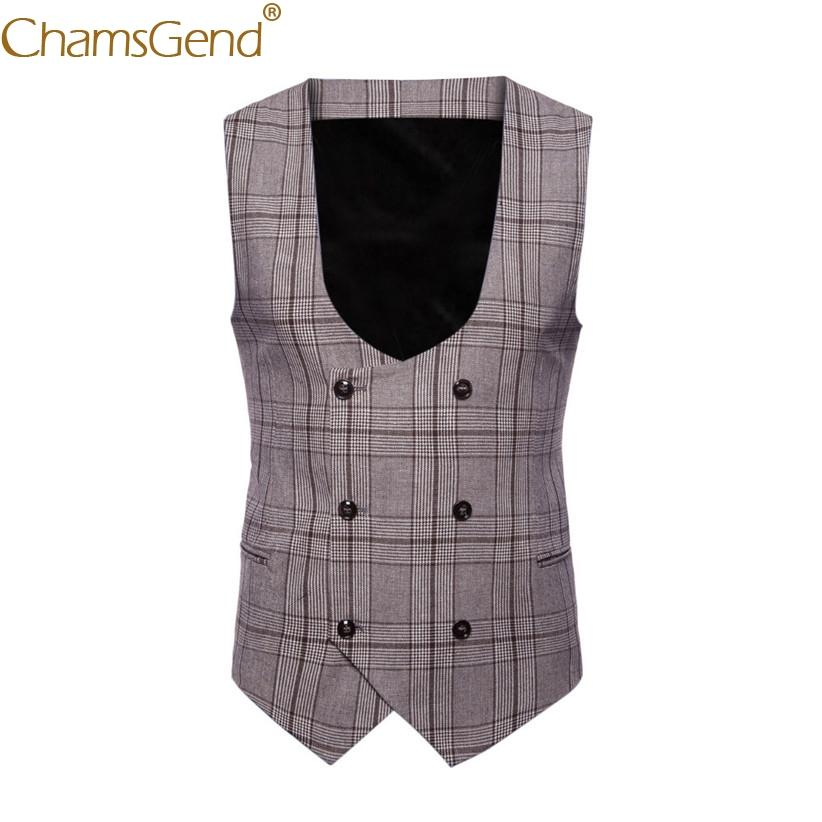 Drop Shipping Vest Classic British Plaid Vest Gentleman Business Man Formal Suit Blazers Coat For Formal Occasion Wedding 80813