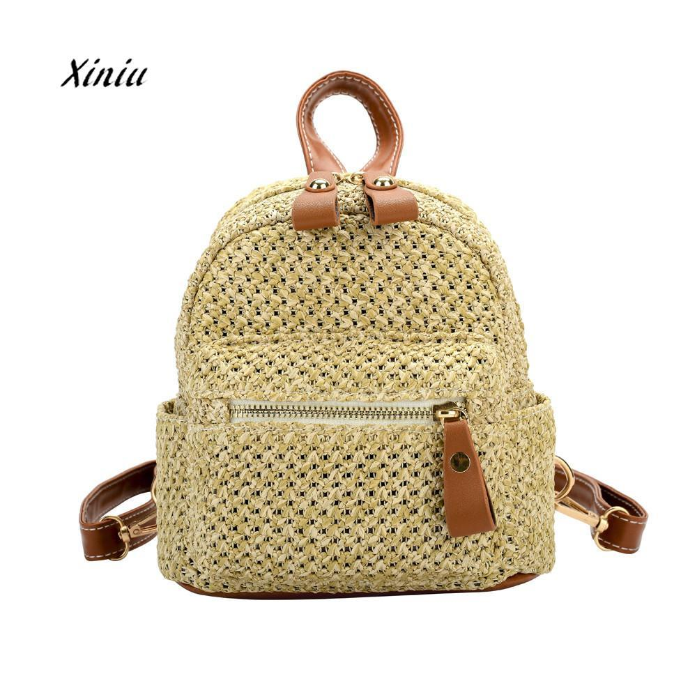 c576797a4d Women Girls Backpacks National Shoulder Bag Fashion Weave Bags Mini Backpack  Travel Rucksack School Bag For Teenage Girls Womens Backpacks Pink Backpacks  ...