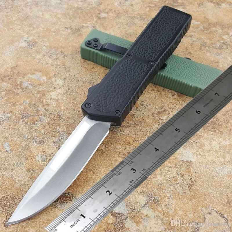 Mais recente de Jason relâmpago faca automática uma variedade de estilos tanto / drop lâmina anti-derrapante alça de alumínio pequeno auto defesa faca tático