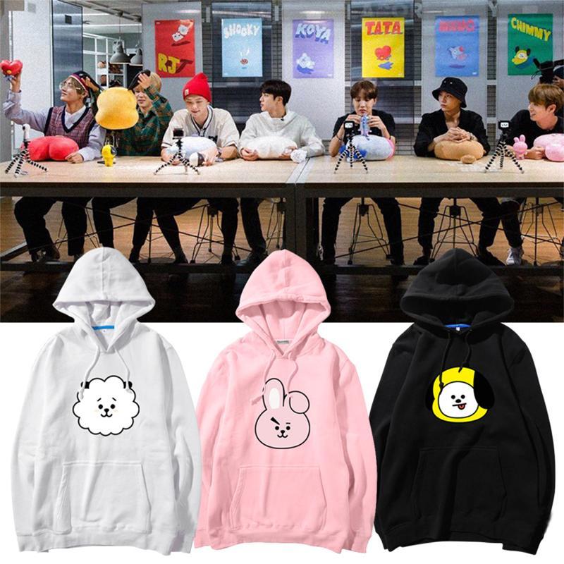 Bärenbekleidung & Accessoires Kpop BTS Bangtan Boys lieben sich selbst Hoodie SUGA J-HOPE JIMIN JIN V Pullover