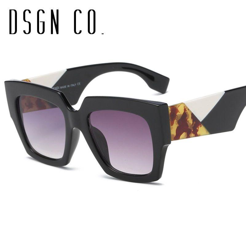 cd982f9d589 DSGN CO. 2018 Summer Brand Sunglasses For Men And Women Square Frame ...