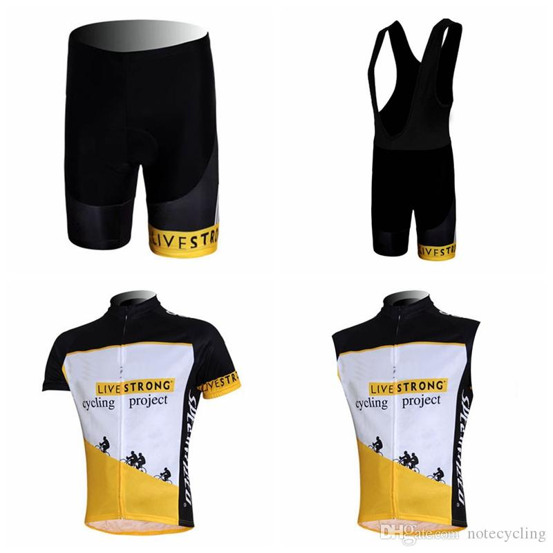 d6a4ff601 LIVESTRONG Cycling Short Sleeves Jersey Bib Shorts Sleeveless Vest ...