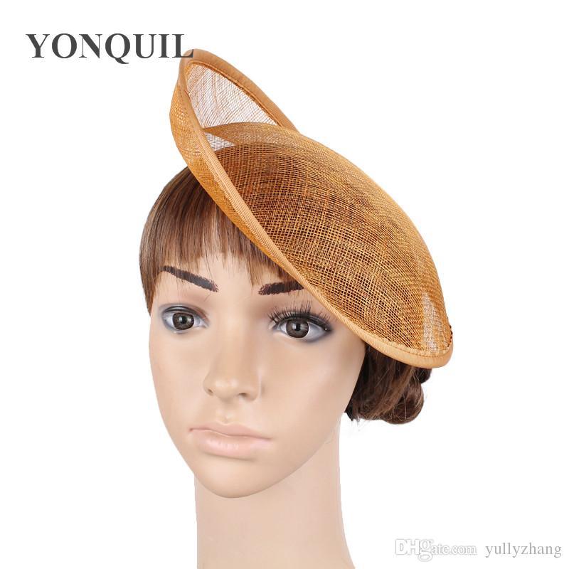 1c68d297 2018 10/25CM Gold Fascinator Base Wedding Royal Ascot Party Sinamay Fascinator  Hats Base DIY Hair Accessories Craft SYB28 UK 2019 From Yullyzhang, ...