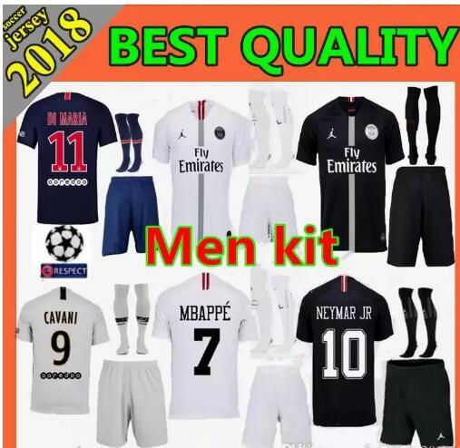 2019 2018 2019 Mbappe Psg Kit Soccer Jersey Paris 18 19 Jordam Mia Black  Maillot De Foot CAVANI Champions League PRE MATCH Training Football Shir  From ... 23df81801