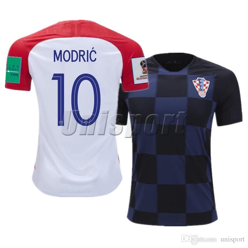 World Cup 2018 Croatia Home Away Camisetas De Fútbol Para Hombres Rakitic  Modric Kalinic Futbol Camisa National Camisetas Shirt Kit Maillot Por  Unisport 3b36da6624034