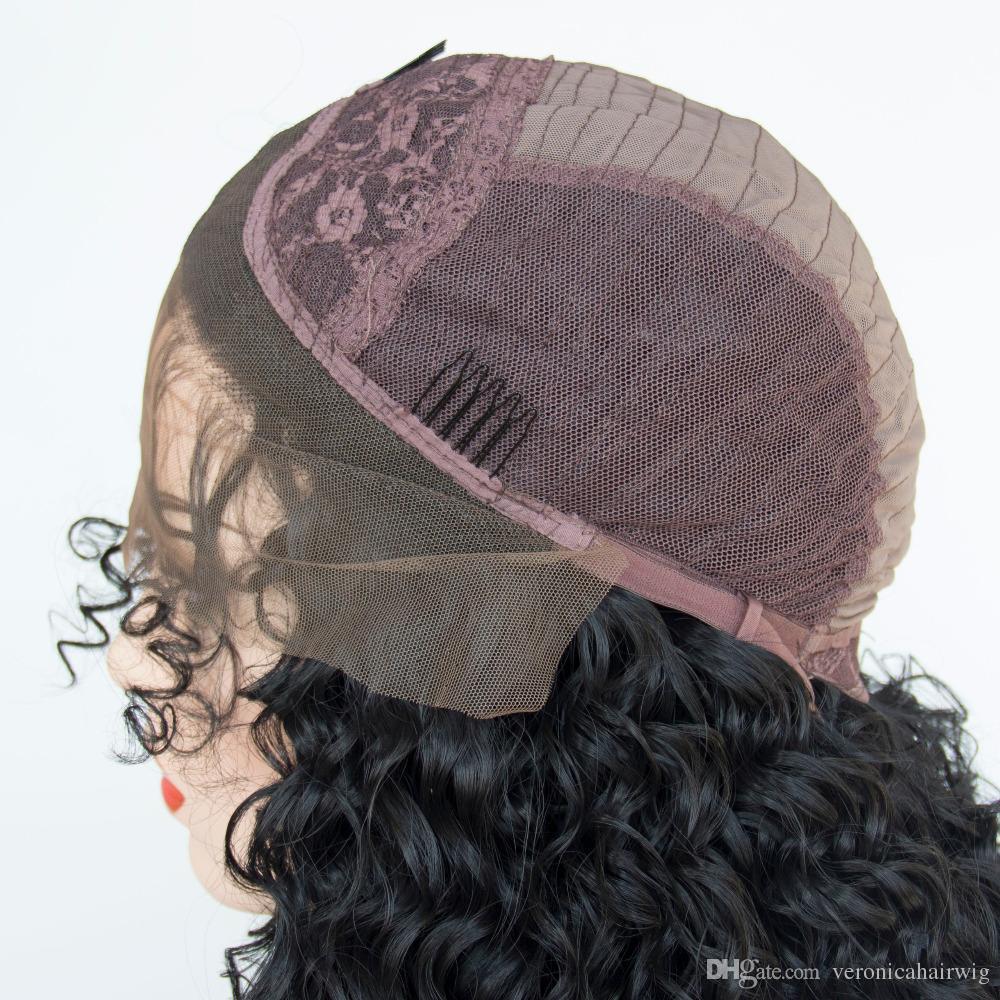 Haute qualité micro tresses perruques avec des cheveux de bébé noir dentelle synthétique avant perruque résistant à la chaleur boîte tressé de fibres tresses perruque pour femmes noires
