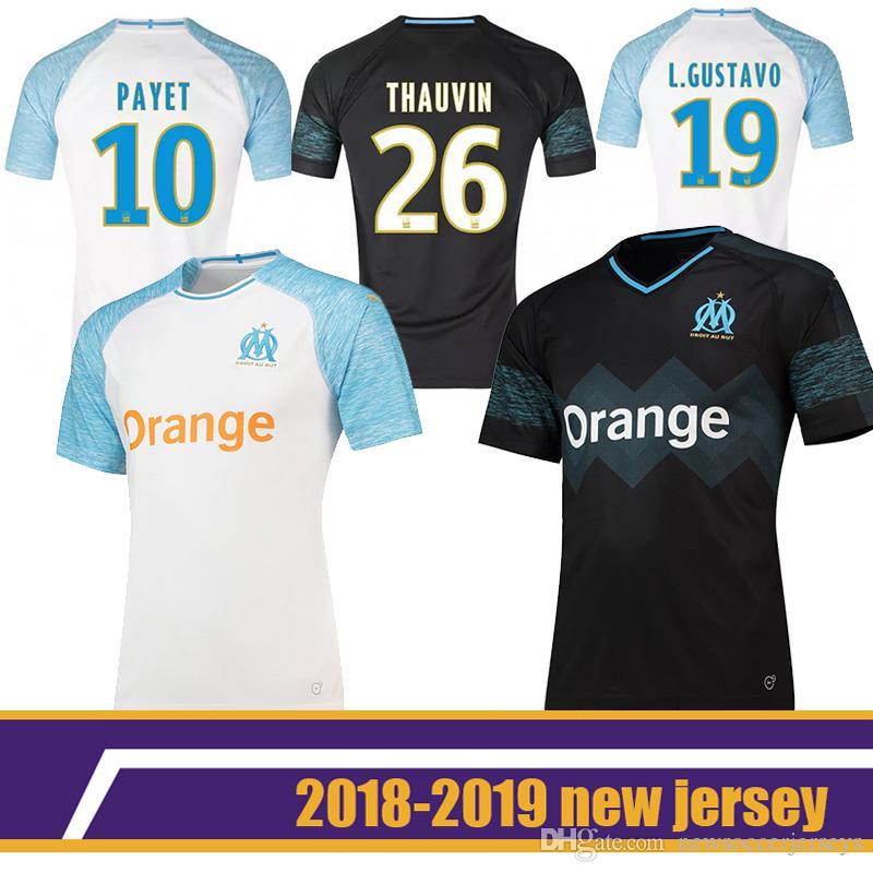 83fc7c1a608 Marseille Soccer Jersey 10 PAYET 7 OCAMPOS 8 SANSON 13 CABELLA 19 L ...