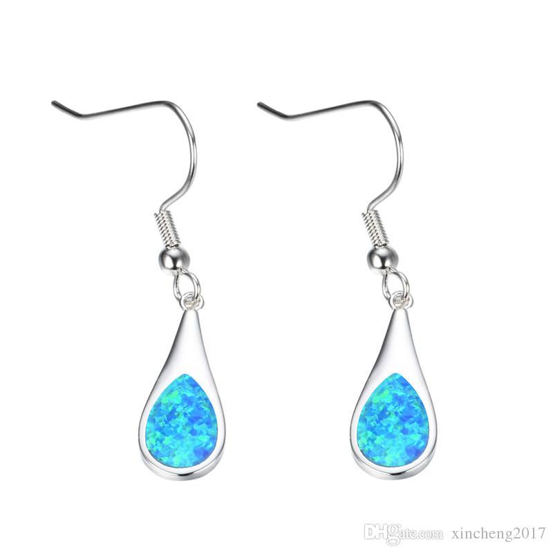 b33f3b97e 2019 Female Water Drop Earrings Blue Opal Earrings 925 Sterling Silver  Filled Dangle Earrings For Women Fashion Jewelry From Xincheng2017, $3.07 |  DHgate.