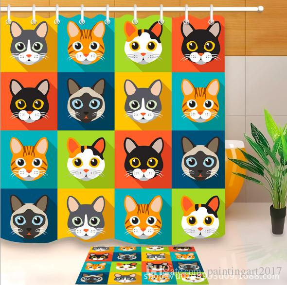 2018 Lovely Pet Chihuahua Shower Curtain Art Dog Bathroom Waterproof Polyester Custom Gift Curtains With Hooks From Paintingart2017