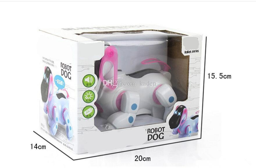 hot sale Electric dog with light and music caster shook his head and tail children's educational toys wholesale supply