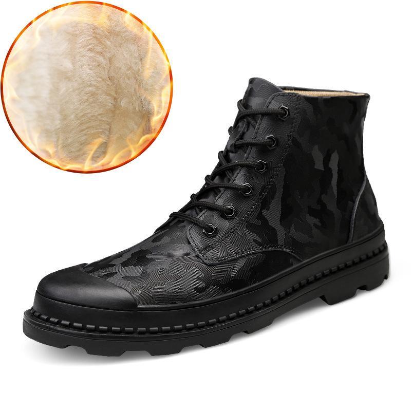Compre Novo Couro Genuíno Martin Masculino Botas De Inverno Ternos Do  Estudante Britânico De Algodão De Alta Deserto Botas Dos Homens Sapatos De  Trabalho De ... 2289d284347dd