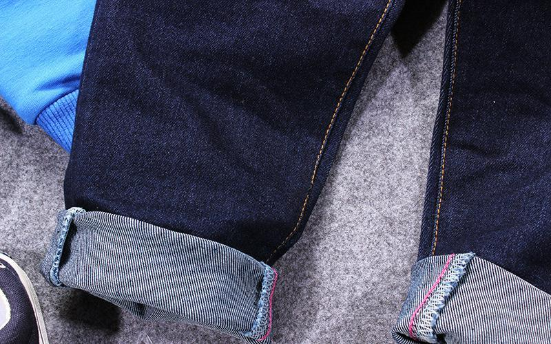 2017 Boys jeans stretch soft spring new leisure long pants loose casual denim Pocket elastic band solid color kids jeans