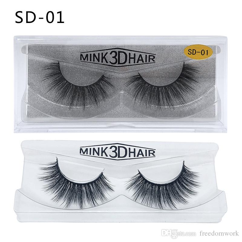 3D Mink Eyelashes Mink False lashes Soft Natural Thick Fake Eyelashes 3D Eye Lashes Extension 20 styles ship out within 24hours DHL free