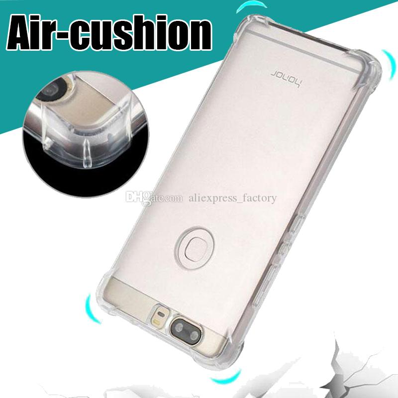 Air Cushion Transparent Clear Soft Gel TPU Cover Case For Huawei P30 Pro  P20 Lite Mate 20 X Nova 4 Y5 Y6 Honor V20 8X 8S 8A Note 10 P Smart