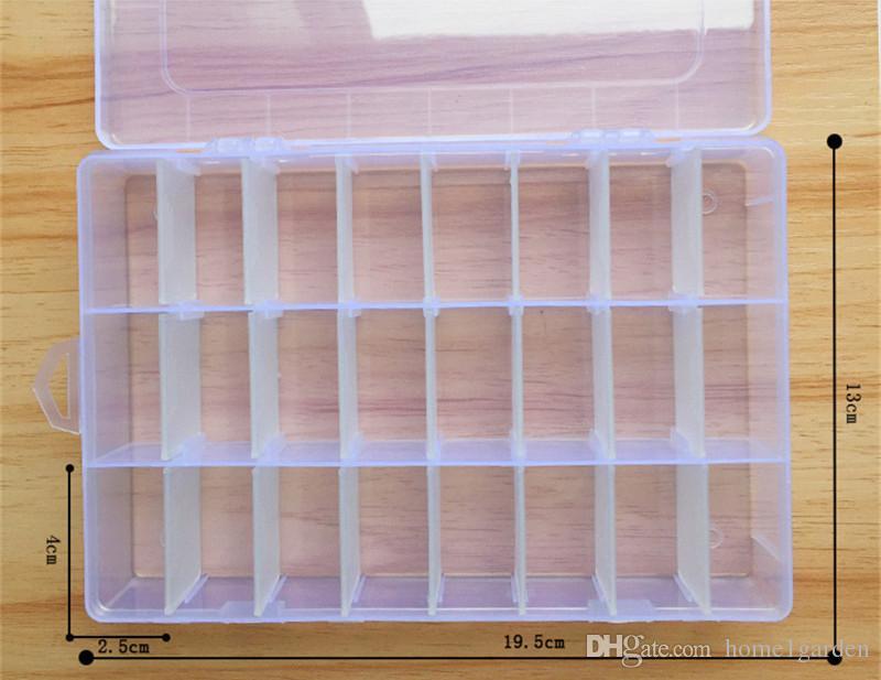 Ayrılabilir Şeffaf Plastik Saklama Kutusu 24 Izgaralar Takı Makyaj Saklama Kutusu Açık Anti-toz Mühürlü
