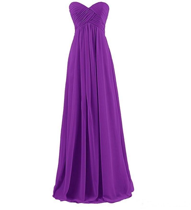 Sweetheart Chiffon Country Vestidos de dama de honor Formal Maid of Honor Backless Beach Custom Made Plus Size Vestidos Fiesta de noche En stock
