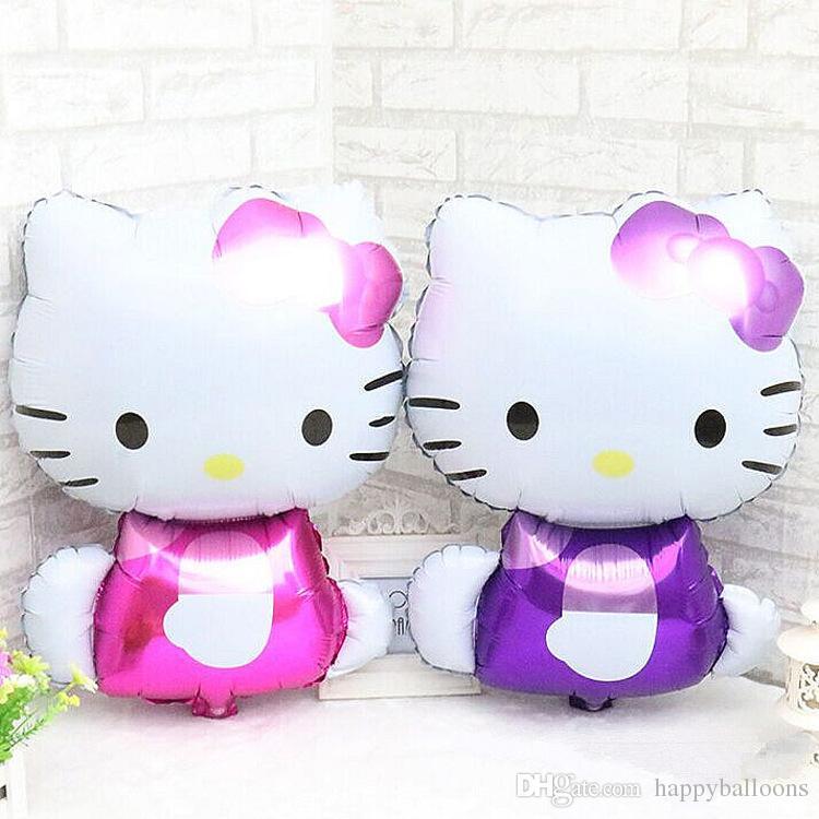 Acquista hello kitty cartoon balloons palloncino di stagnola in
