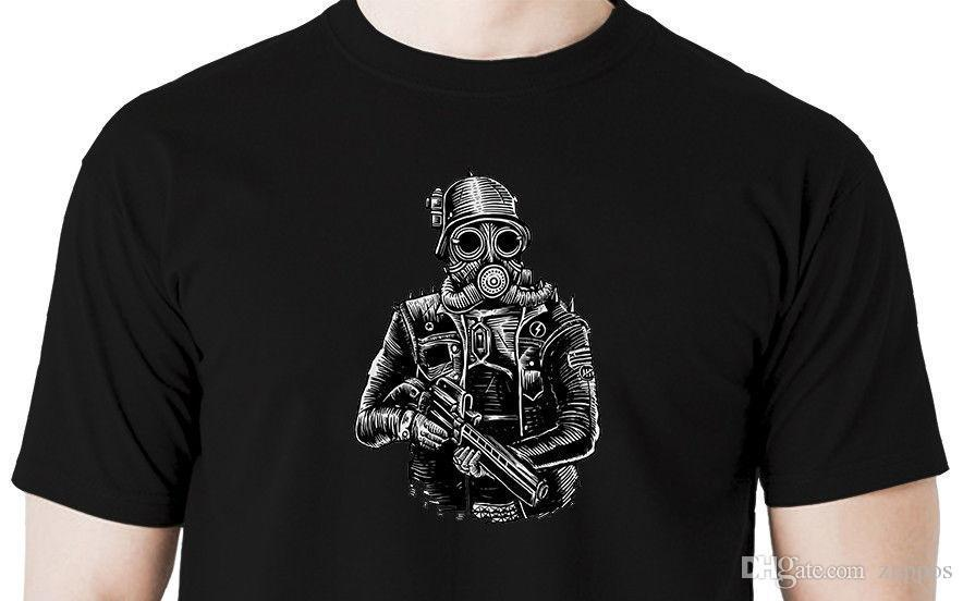 Funny Men T Shirt Women Novelty Tshirt Bee With Gas Mask S Cool T-shirt Reasonable Price T-shirts Back To Search Resultsmen's Clothing