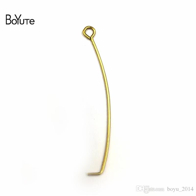 BoYuTe 0.7*45*0.35 MM Metal Copper Hook Diy Hand Made Jewelry Accessories Parts