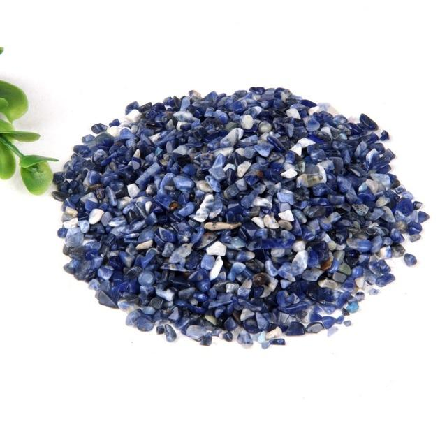 1.8cm-3cm 100g On Sale Blue Sodalite Stone Tumbled Stones Healing Crystals Gemstone Gem Reiki Beads Decoration