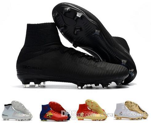 6300daa800c 2019 2018 Men Mercurial Superfly CR7 V FG AG Football Boots Cristiano  Ronaldo Neymar JR Mercurial Superfly ACC Soccer Shoes Cleats With Box From  ...