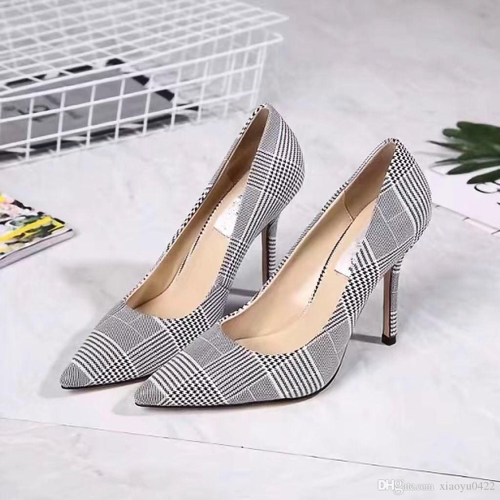 Women Popular Pointed Toes Genuine Leather Single High Heel Ladies ... d71852f6e1f1