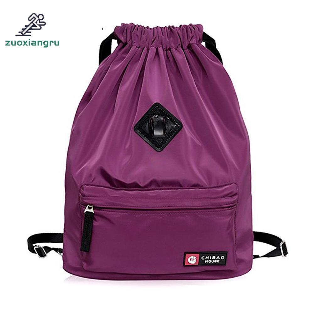 b2f2bddd0edb 2019 Zuoxiangru Drawstring Bag Festival Backpack Nylon For Gym Sports  Fitness Travel Yoga Women Girls Student Bag Travel Backpack From Ekuanfeng