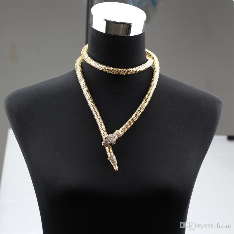 whole saleSnake Choker Necklace Collar Snake Long Necklaces & Pendants Fashion Jewelry Waist Chain Animal Accessories