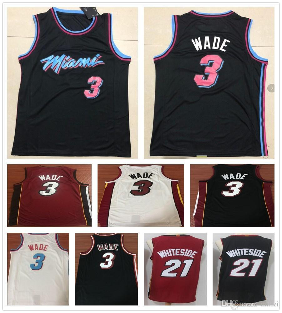 9c96c86d14b9 ... clearance 2019 2018 2019 new city edition black white 3 dwyane wade  jersey cheap men sportswear