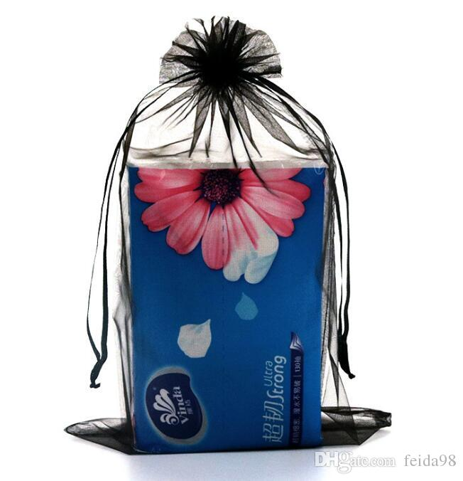 Multi colori gioielli confezione trasparente sacchetto di garza Casamento 9x12cm korah regalo di nozze borse sacchetto organza GA20