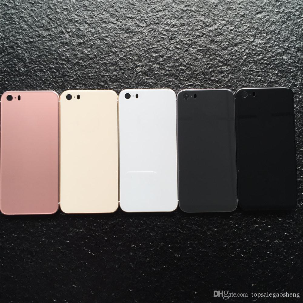 ab52dcc1bae Carcasas De Celulares Para IPhone 5s SE Carcasa Trasera Como IPhone 8  Estilo Metal Carcasa Trasera De Repuesto Con Botones Para Carcasa 5s Para  IPhone8 ...