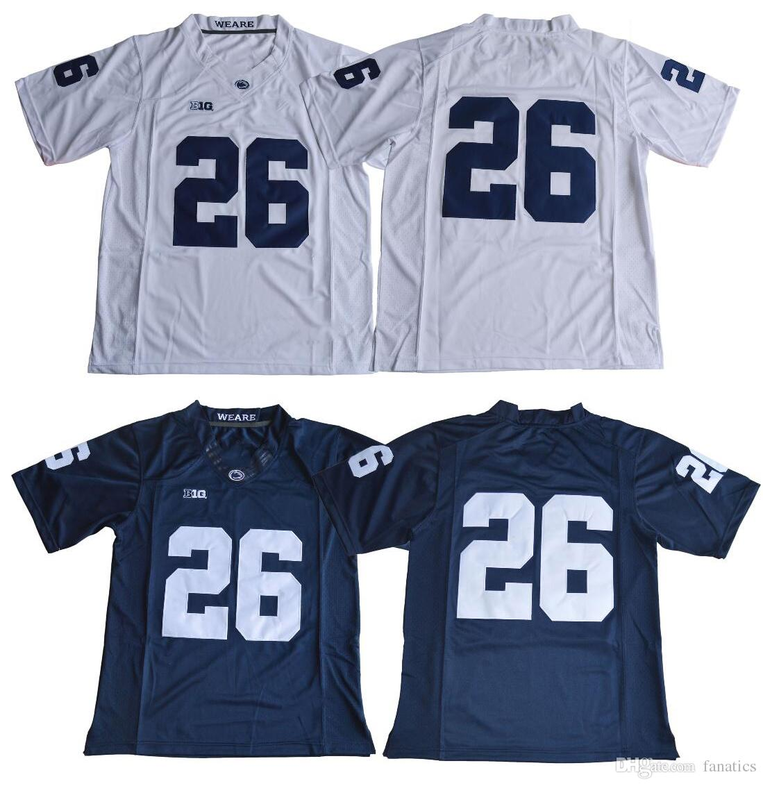 9ded39289 Cheap Mens 26 Saquon Barkley 2017 Penn State Nittany Lions No Name Navy  Blue White College Football Jerseys Stitched S XXXL UK 2019 From Fanatics