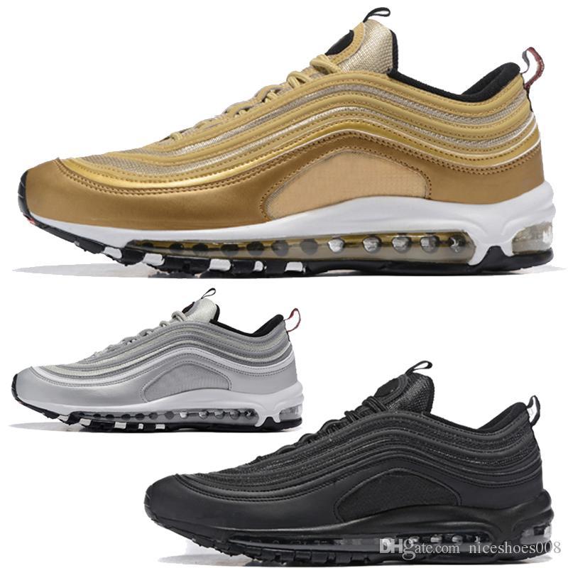 sports shoes 56040 4c420 Nike Air Max Airmax Descuento Caliente Marca Nuevos Hombres Bajo 97 Cojín  Zapatos Ocasionales Respirables Masaje Barato Correr Zapatillas Planas Hombre  97 ...