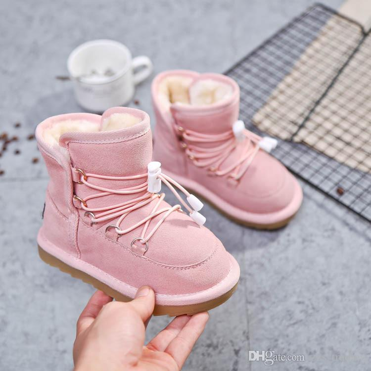 e09868254bfc8 Child snow boots shoes for girls boys boots fashion soft bottom baby girls  boot 21-30 autumn winter child boots shoe Non-slip Hot products
