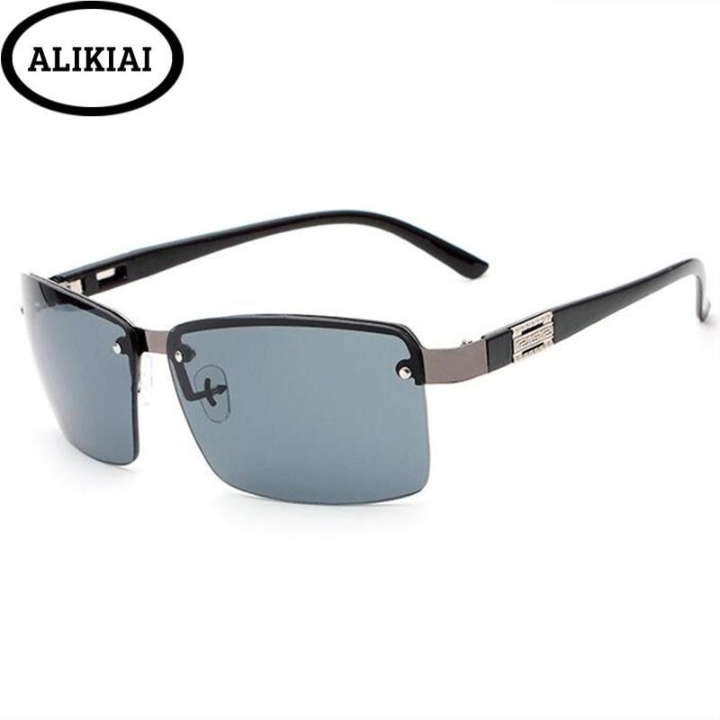 e79535b7e1cf9 Compre ALIKIAI 2018 Óculos De Sol Dos Homens Famosa Marca Designer De  Designer De Óculos De Sol Espelho Masculino Lente Gafas Oculos UV400 De  Fragmentt