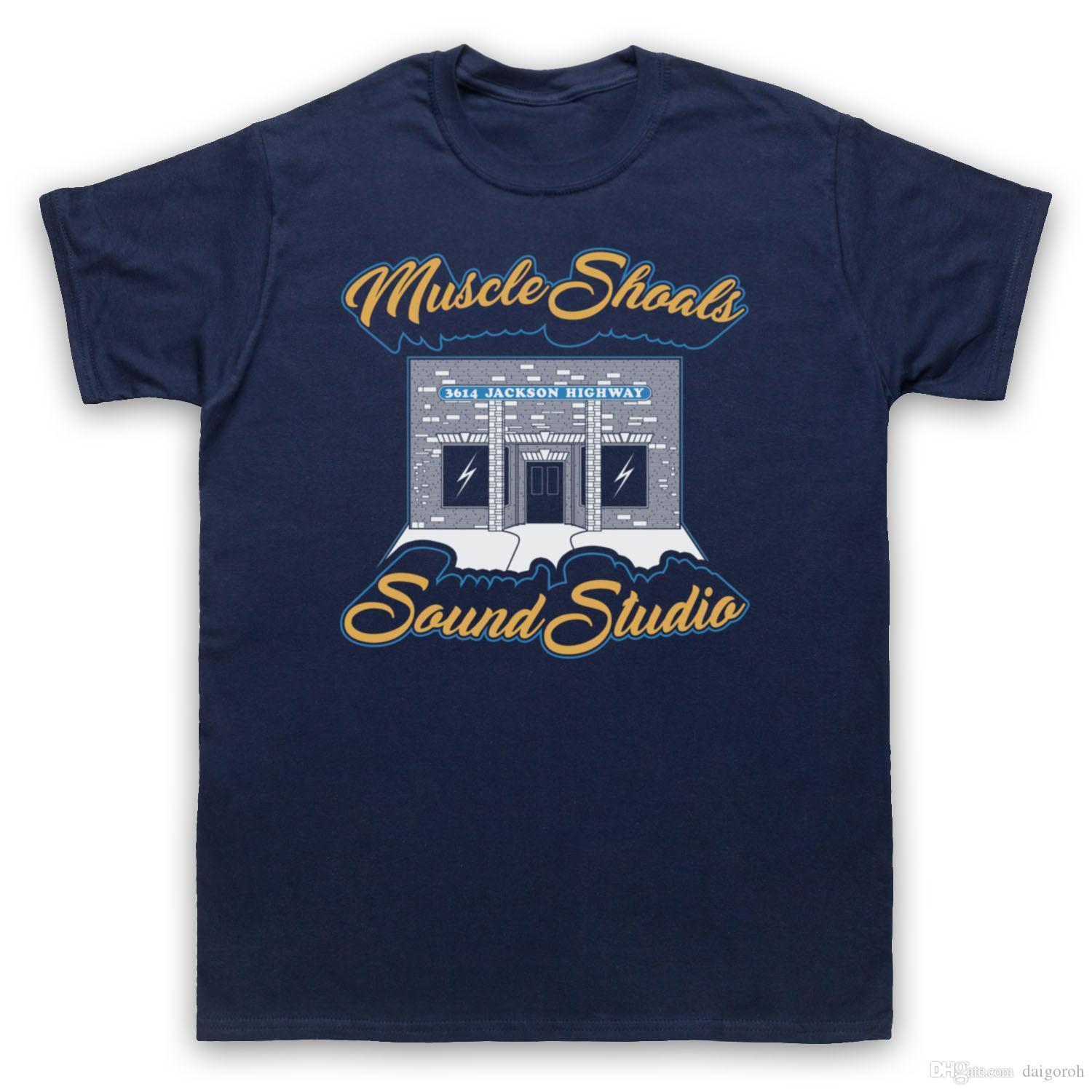 6128158d MUSCLE SHOALS SOUND STUDIO 3614 JACKSON HIGHWAY RECORD ADULTS & KIDS T SHIRT  Printed T Shirt Funny T Shirts For Guys From Tshirtmall, $10.46| DHgate.Com