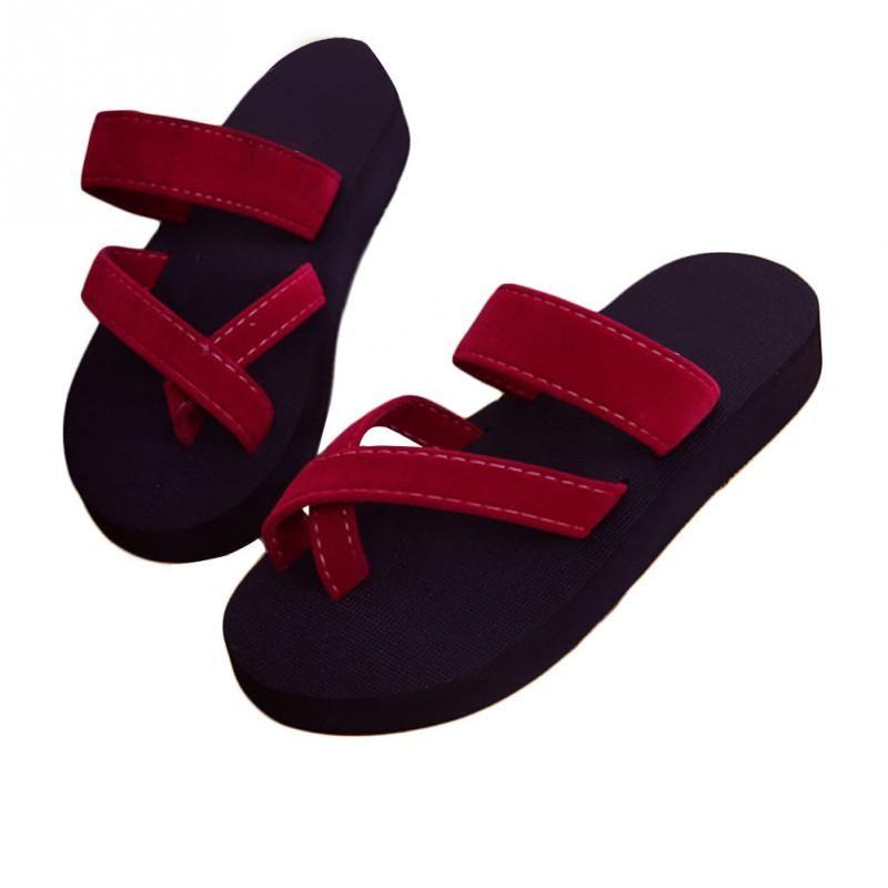 2018 Women Casual Fashion Sandal Slippers Anti-skid Summe Beach Flat Open  Toe Flip Flops Sapato Feminino Casual Fashion Slippers Beach Flat Slippers  Sapato ... 7c9d85652bca