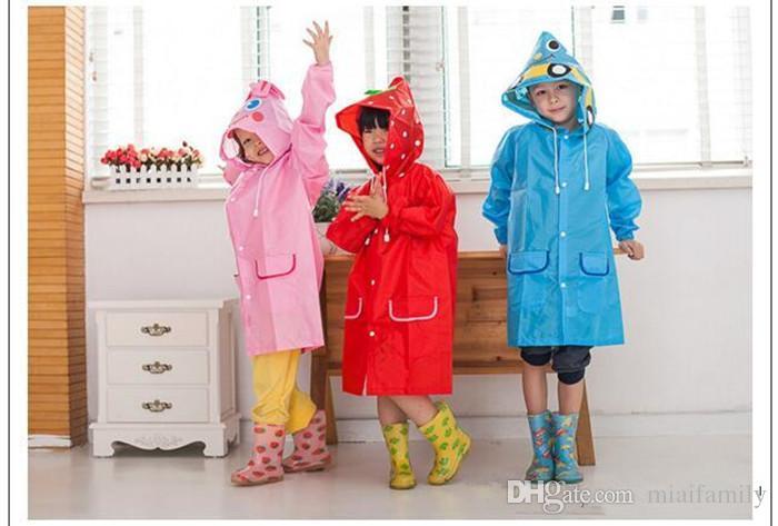 Линда смешно пальто дождя дети дети плащ дождевик дождевик дети водонепроницаемый животных плащ 5 цвет горячий