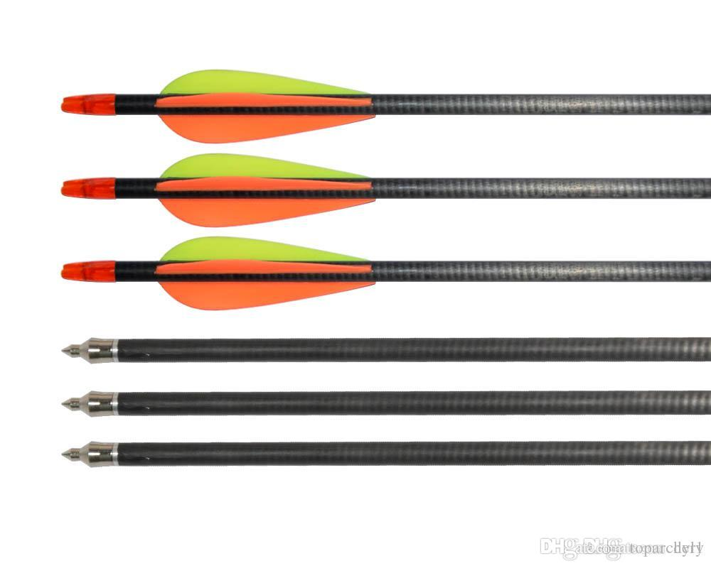 Huntingdoor Archery Carbon Arrows Spine 400 31'' Hunting Arrows with Replaceable Field Points and Adjustable Arrow Quiver