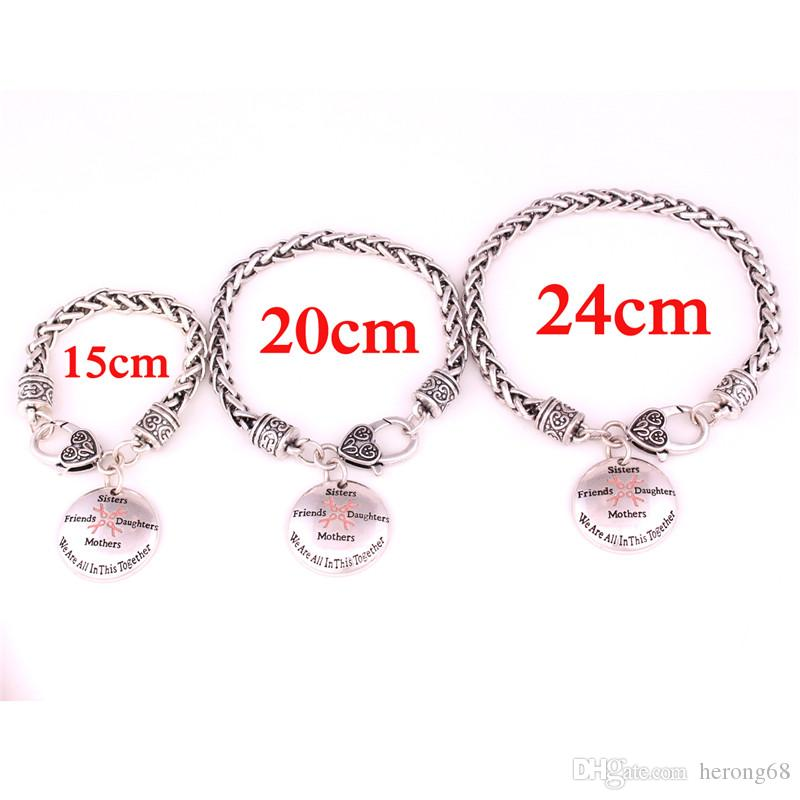 Fashion Unisex Charm Ribbon Bow Pattern Round Shape All In This Together Great Gift For BFF Family Member Zinc Alloy Provide Dropshipping
