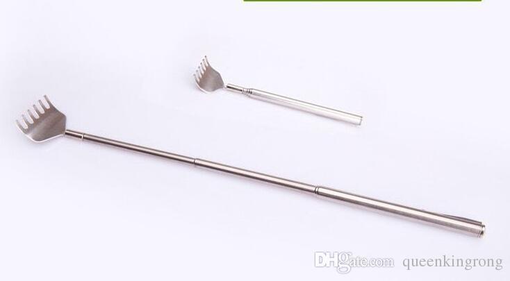 Métal télescopique extensible en acier inoxydable Portable Taille réglable Handy Pocket Pen clip Gratte-dos Articles outil de soins de santé
