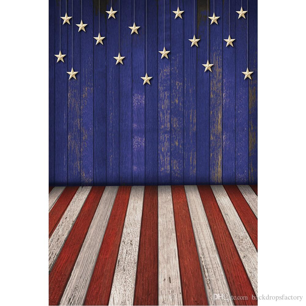 2018 blue wooden wall hanging stars american flag backdrops