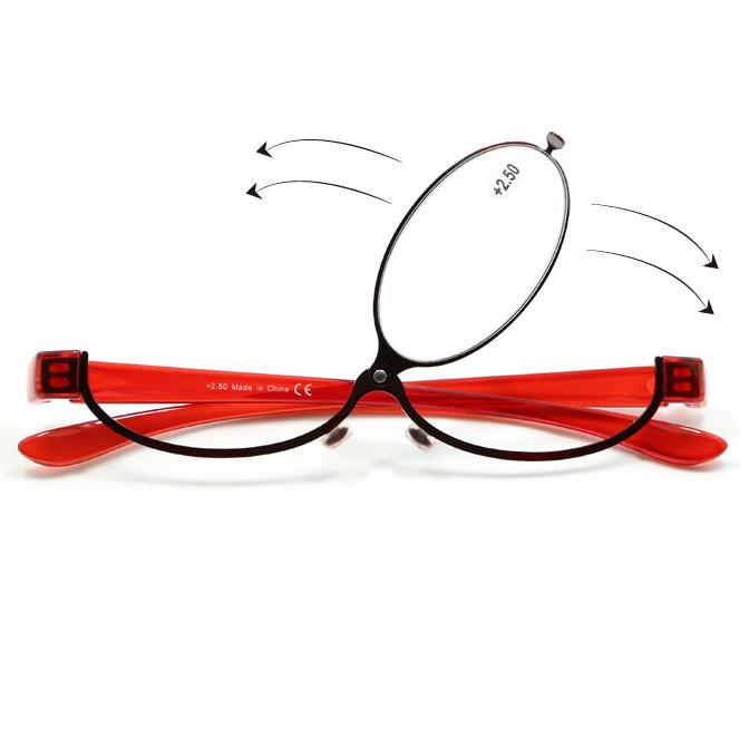 9e8213b4ebf Fashion Makeup Reading Glasses Women Lady Make Up Eyeglasses Magnifying  Eyewear Red Metal Frame Magnifier Eye Reader +1.0~+4.0 Reading Glasses  Prescription ...