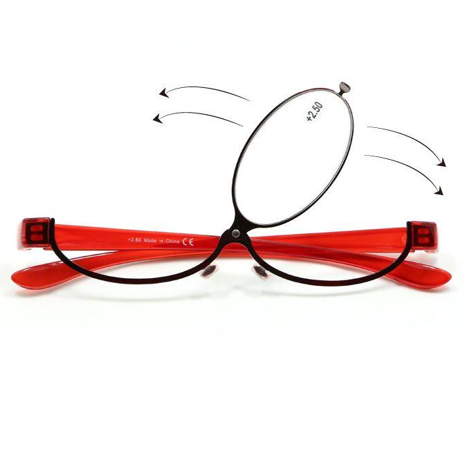 d91a4f9de Compre Moda Maquiagem Óculos De Leitura Mulheres Senhora Maquiagem Óculos  Óculos De Ampliação Red Metal Frame Lupa Leitor De Olho + 1.0 ~ + 4.0 De ...