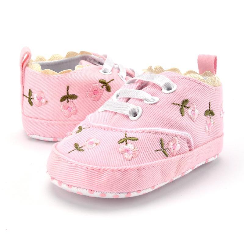 Baby Shoes Mother & Kids Baby Shoes White 3 Flower Lace Headband Baby Newborn Toddler Girl Crib Bow Shoes Pram First Walker Anti-slip Sneakers Soft Sole