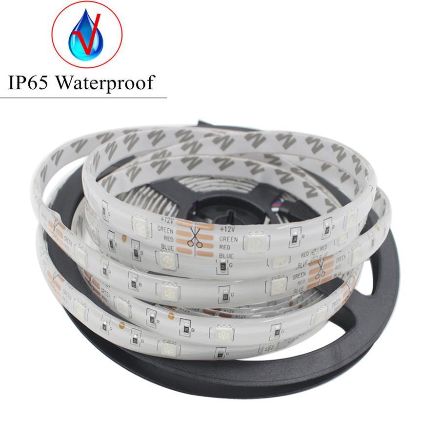Goolook RGB LED Strip Light 5050 SMD 5m 10m Led Light Tape Waterproof RGB diode LED Ribbon Music IR Controller + Power Supply