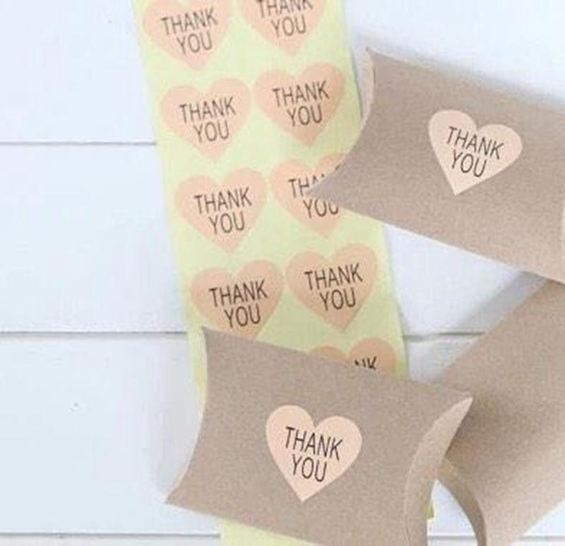 2018 pink thank you stickers for wedding seals invitation stickers