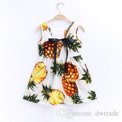Sommer-Mädchen-volle Blumen, die großen Bogen-Seidenband-gebundenen Seil koreanische Art-BaumwollEnd-endBoutique Sleeveless Weste-Kleid-24 Entwürfe drucken