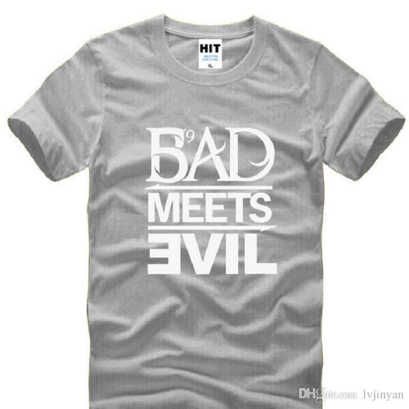 Eminem Bad Meets Evil T Shirts Männer Sommer Stil Kurzarm O Hals Baumwolle herren T-shirt Mode Rap Rock Männlichen T-shirts S-3XL