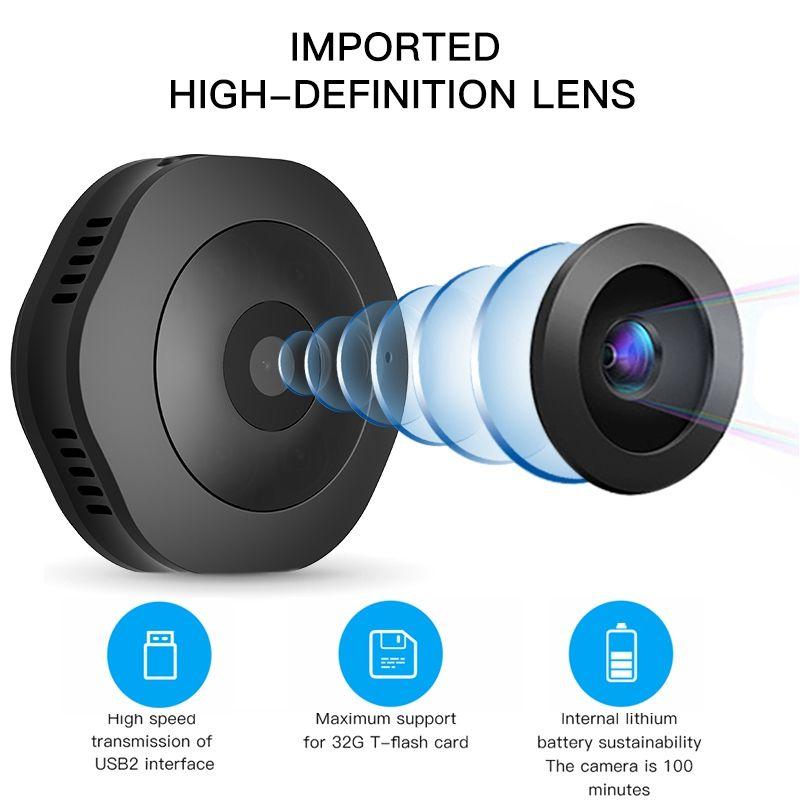 H6 Mini Wifi Pocket Camera Micro DV DVR HD IR Night Vision Motion Detection Body camera Wireless Network Monitor Bike Camera
